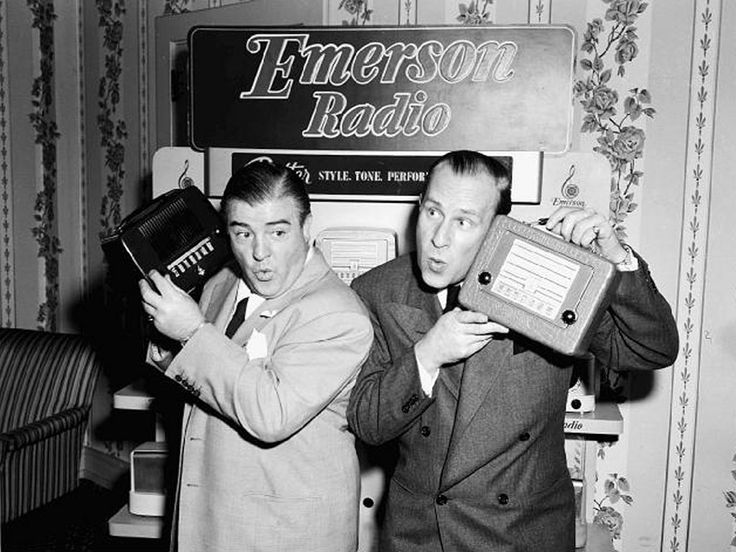 """Bud Abbott (right) and Lou Costello from the 1950's """"ABBOTT & COSTELLO SHOW"""". Description from pinterest.com. I searched for this on bing.com/images"""