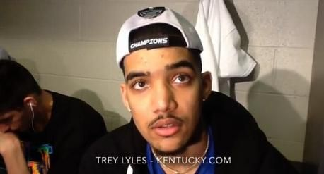Kentucky's Trey Lyles on winning the SEC tourney, prep for NCAA tourney physical play. https://youtu.be/g2NVy4gLoqs #BBN