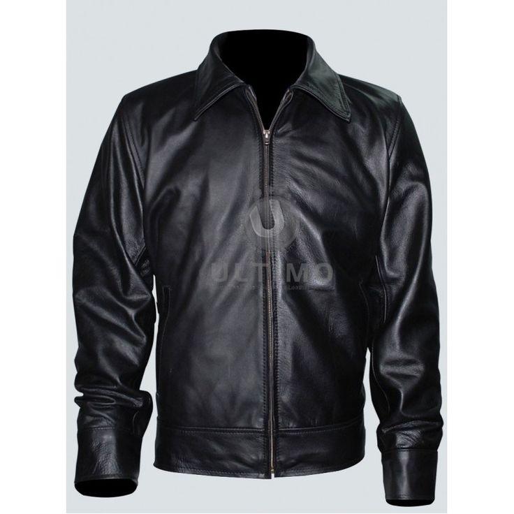 American Gangster Richie Roberts (Russell Crowe) Leather Jacket  #RichieRoberts #mensjacket #moviejackets #celebrityjackets #leatherjackets #slimfitleatherjackets