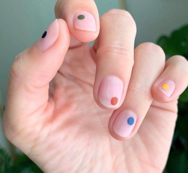 Cute Nail Art, Cute Nails, Pretty Nails, Diy Nails, Nail Art Dots, How To Nail Art, Minimalist Nails, Short Nail Designs, Nail Art Designs