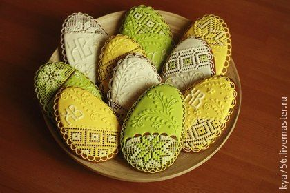 Пряник Яйцо кружевное. Handmade.