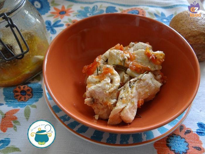 Pollo alla pizzaiola in vaso cottura/ ricetta a vapore