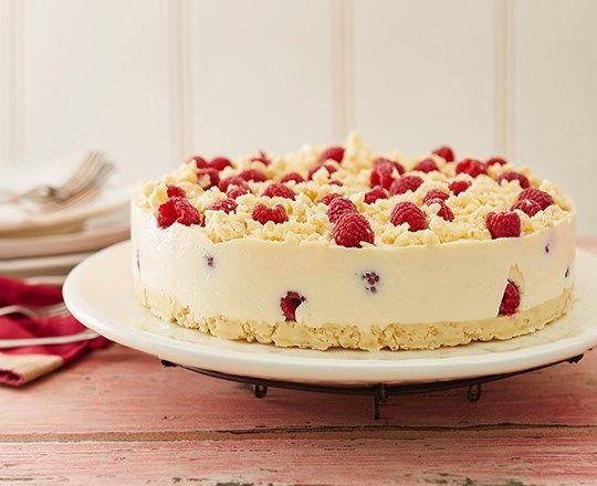 Raspberry Crackle Cheesecake