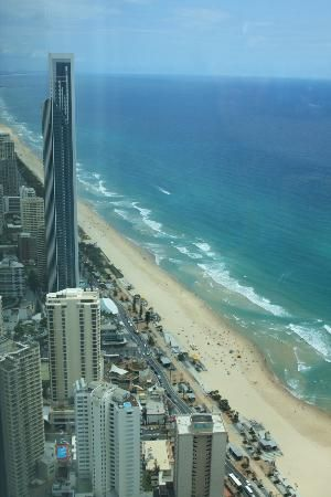 View from Skypoint of Gold Coast Surfers Paradise
