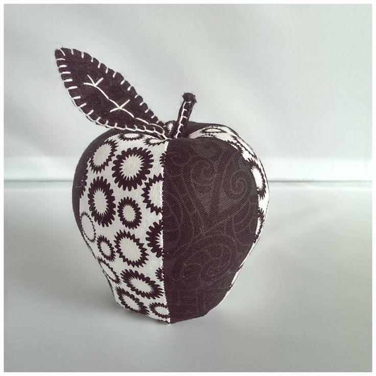 Black n white apple pin cushion https://www.facebook.com/kazzalblue/photos/a.10152742712295129.1073741843.144324370128/10152743631955129/?type=1&theater