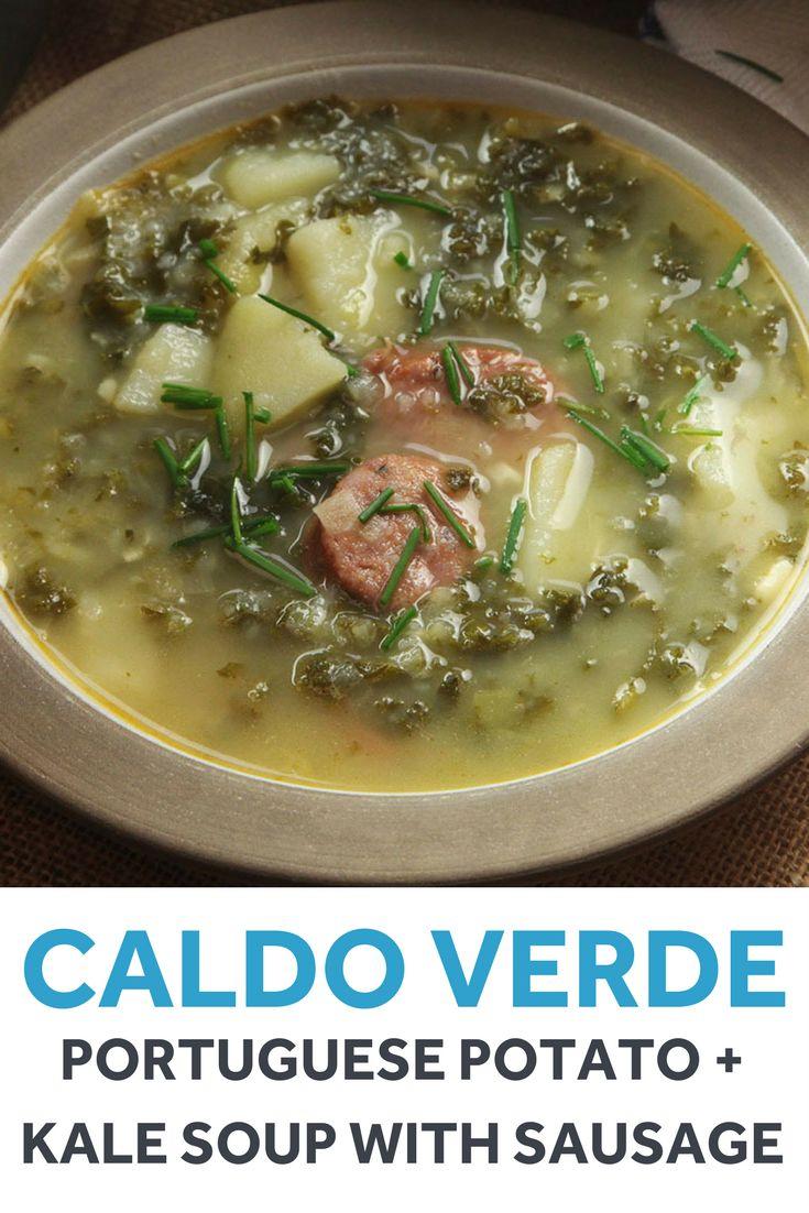 verde portuguese potato and kale soup with sausage portuguese soup ...