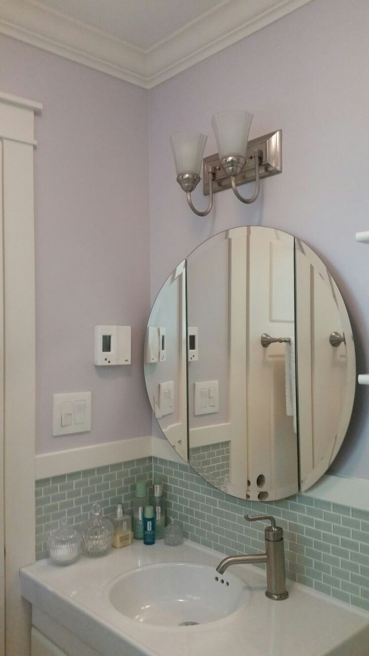 44 best images about house half bath on pinterest for Bathroom 3 way mirror