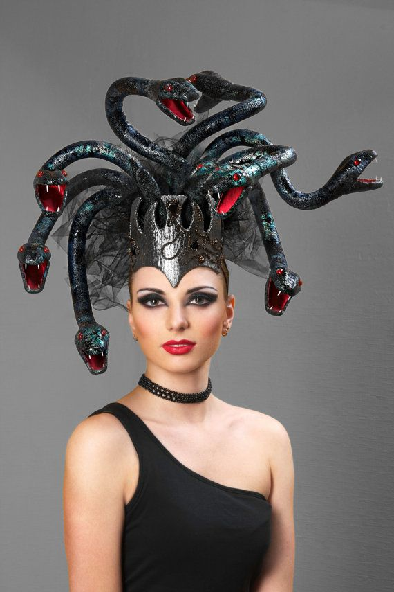 Couture headpiece Medusa by ChapeauEgoiste on Etsy