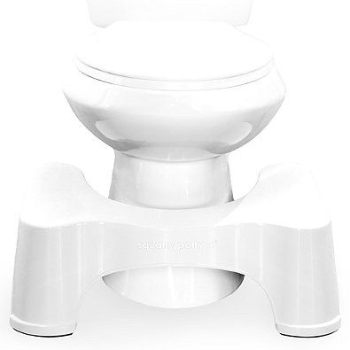 This doctor recommended Squatty Potty Toilet Stool perfectly aligns the colon for effortless elimination. Eases toilet related ailments. Made for comfort height or handicap toilets. Simulates a comfortable squat position.