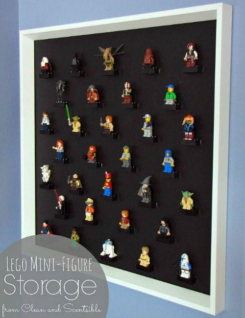 DIY Lego Mini-Figure Display http://www.hometalk.com/4074163/lego-display-diy-picture-frame