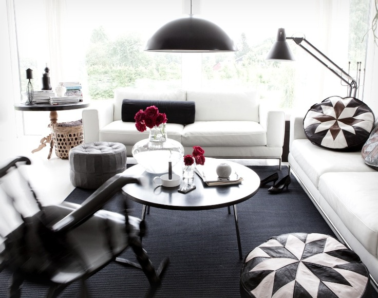 Black And White Living Room Annaleenas Hem