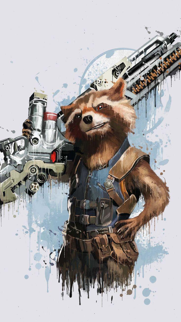 Download 1080x1920 wallpaper Rocket Raccoon, Avengers