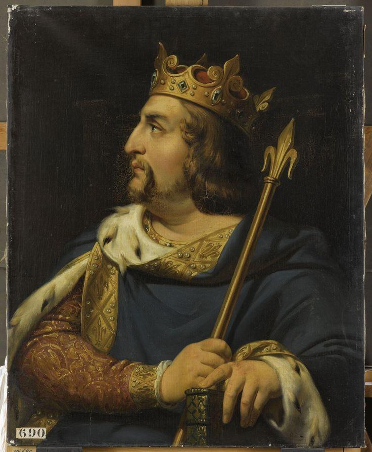 Louis VI le Gros, fils de Philippe 1er et de sa première épouse Berthe de Hollande. En 1119, dans une lettre au pape Calixte II, Louis VI se proclame... « roi de la France, non plus des Francs, et fils particulier de l'Église romaine ». Il s'agit de la première mention officielle du mot France. Jusque-là, les clercs et les poètes parlaient plutôt de la Gaule, de la Francie (ou Francia) ou du royaume des Francs...
