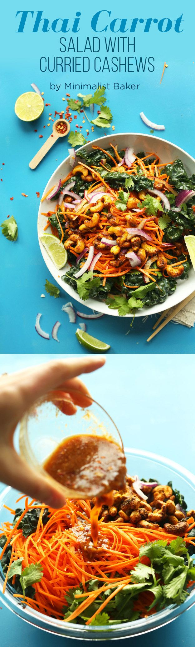 Thai Carrot Salad With Curried Cashews