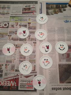 My version of the canning lid Snowman Ornaments - great for use as a gift tag!