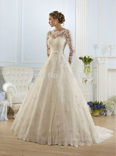 White/ivory Lace Long Sleeve Wedding dress Bridal Gown custom size 6-8-10-12-14+ in Clothing, Shoes & Accessories, Wedding & Formal Occasion, Wedding Dresses | eBay