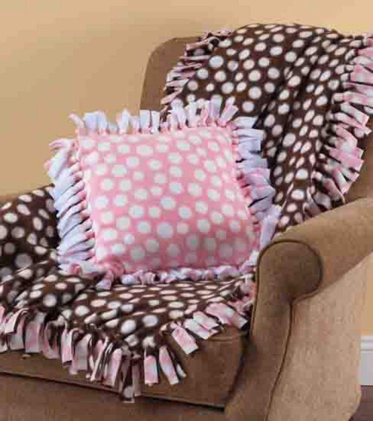 NoSew Fleece Blanket & Pillow my dogs Pinterest No