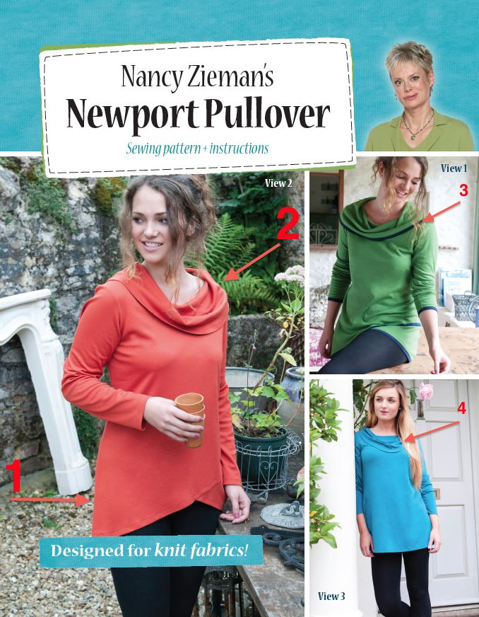 Nancy Zieman sewing patterns Newport Pullover