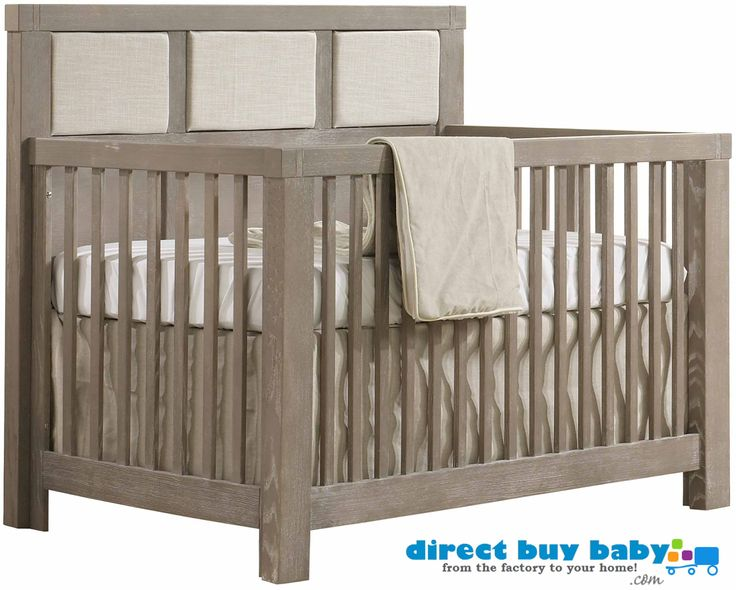 Natart Juvenile Rustico Upholstered Panel Crib At Direct Buy Baby Is $1199,  Expertly Crated From