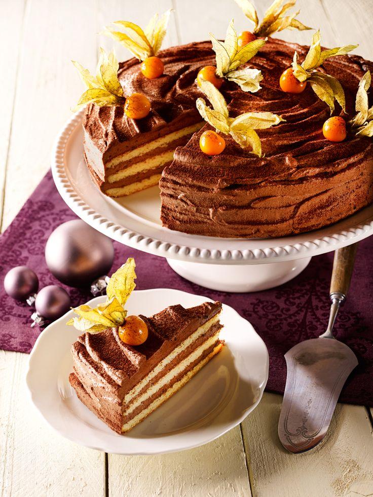 Sahne-Torte mit Espresso