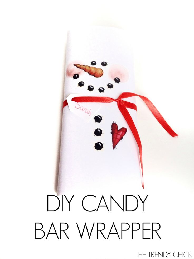 Punchy image with snowman candy bar wrapper free printable