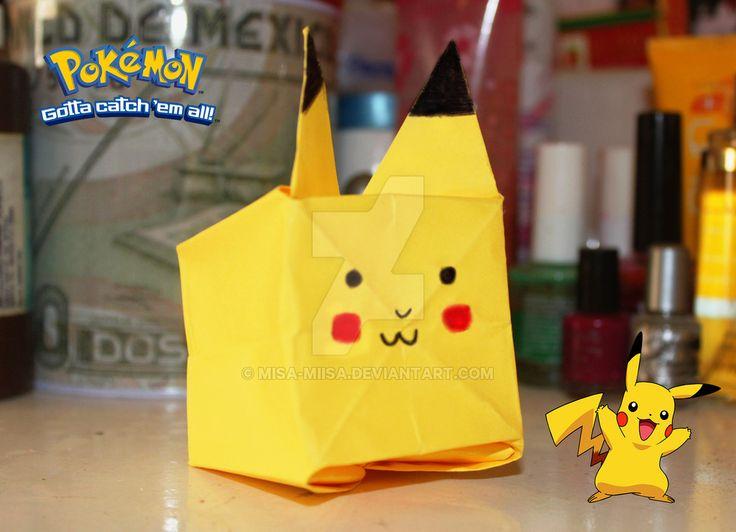 Pikachu de papel :D by MiSA-MiiSA.deviantart.com on @DeviantArt