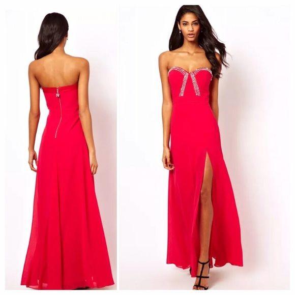 Red dress size 8 asos gladiator