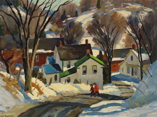 Tom Roberts; Winter Morning Shadows, Stewartown