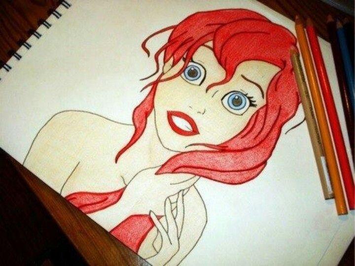 The Little Mermaid Ariel drawing