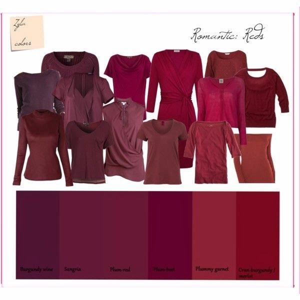 YEP!!! THOSE ARE MY COLORS!!! Dressing My Truth........ Ideas for Type 2: Color Reference~~Red