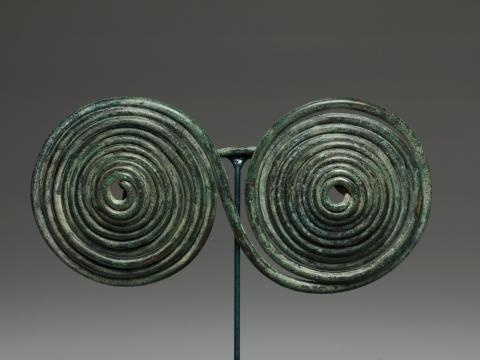 This Geometric Bronze Spectacle Fibula from the Roman Etruscan period is one of latest additions.  Read more about it here: http://www.medusa-art.com/an-geometric-bronze-spectacle-fibula.html