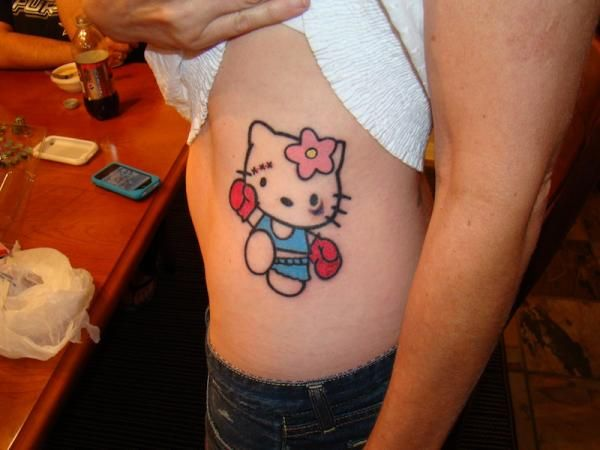 20 Crazy Hello Kitty Tattoos - http://www.allnewhairstyles.com/20-crazy-hello-kitty-tattoos.html