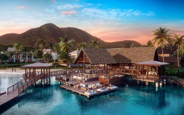 Park Hyatt St Kitts-When the Park Hyatt opens on Saint Kitts, it will be the first luxury resort to debut on the island. The 126-room resort will be the ultimate spot for relaxation. The Stone Mill Spa & Sanctuary will offer guests Watsu therapy, daily meditation sessions and a fitness center. After a spa experience, guests can enjoy the resort's views of the Caribbean and Nevis island.