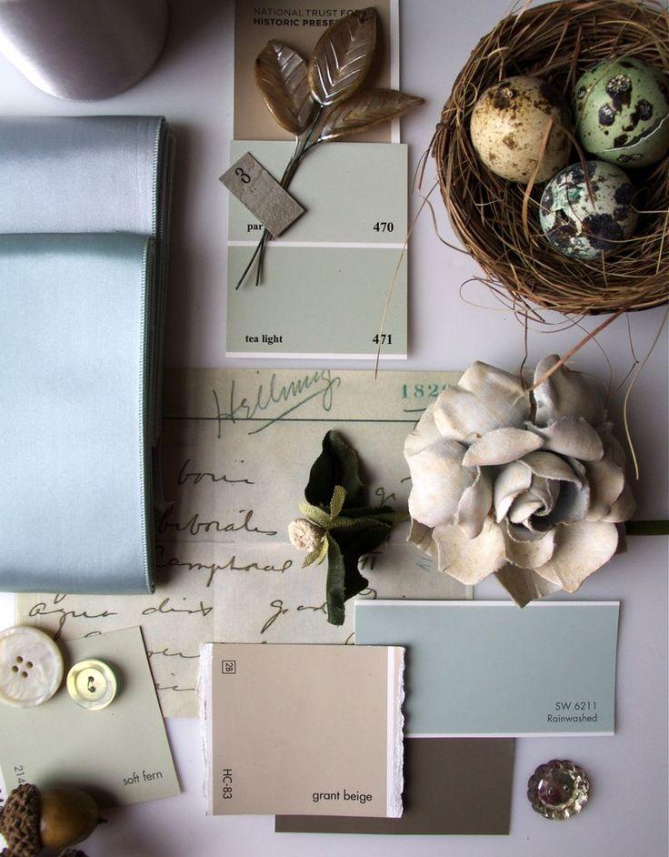 Ben Moore tea light and grant beige, Valspar Java, Rainwashed Sherwin Williams // color combo by Urban Comfort