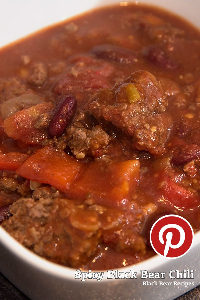 Spicy Black Bear Chili Recipe. #bear #blackbear #meat #cooking #wild #wildgame #tomato #chili #spicy