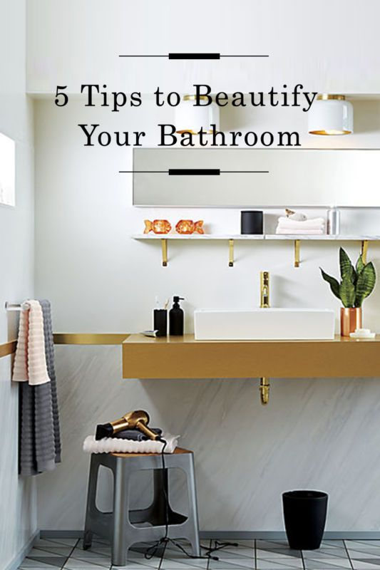 Tips to Beautify your bathroom /