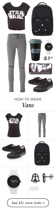 """""""Star Wars"""" by picky-picky on Polyvore featuring J Brand, Vans, Samsonite and Nixon"""