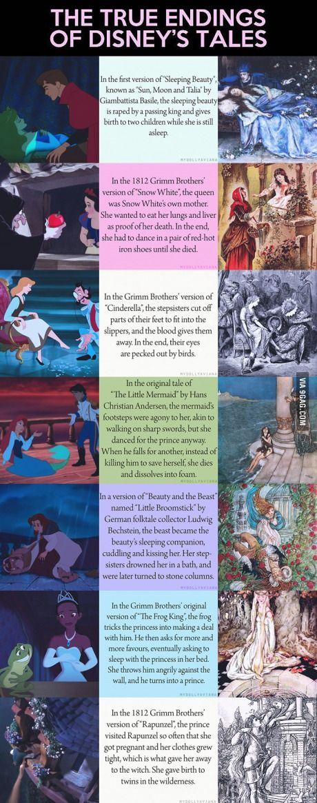 True endings to Disney stories.