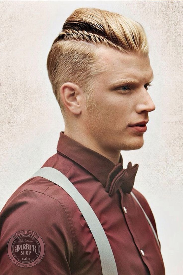 Hipster men hairstyles 25 hairstyles for hipster men look - Hipsters On Trend The Man Braid Often Features Hair Longer On The Top Of The Head And Shaved Down The Sides