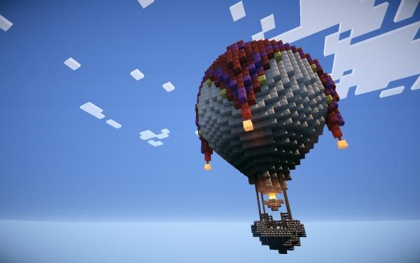 Minecraft Hot Air Balloon Minecraft Pinterest
