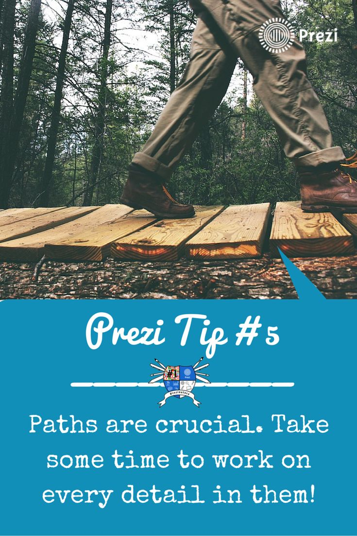 In life you won't reach anywhere without a path. Prezi works the same way; gain full control of them. https://www.youtube.com/watch?v=9nzo6xkroiU&index=7&list=PL8ciRIuEbGNbe9mor6w2RxyN4GKk7wlvb