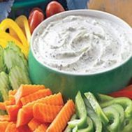 What's a party without a veggie dip? Try this lower calorie dill veggie dip for your next holiday party!