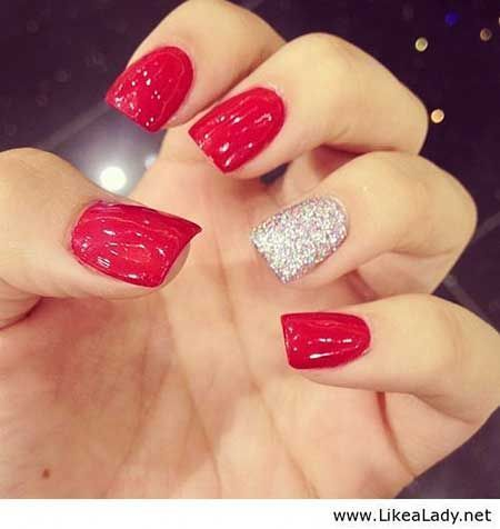 red and silver nail art - The 25+ Best Red And Silver Nails Ideas On Pinterest Christmas