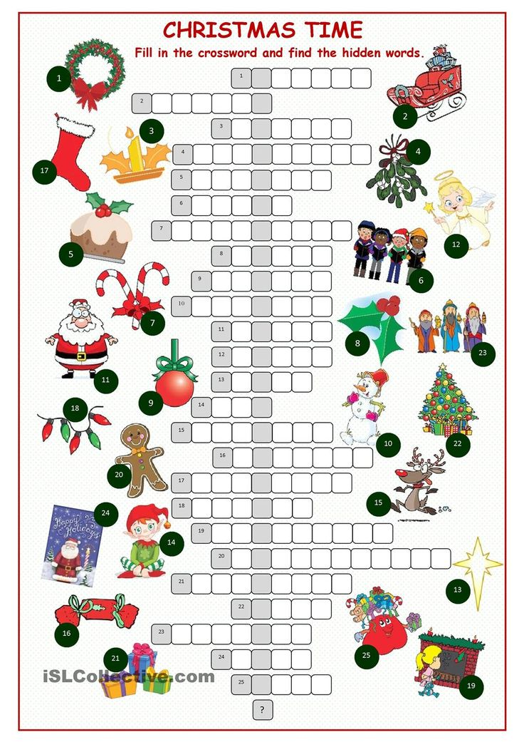 Christnas Time Crossword Puzzle                                                                                                                                                                                 More