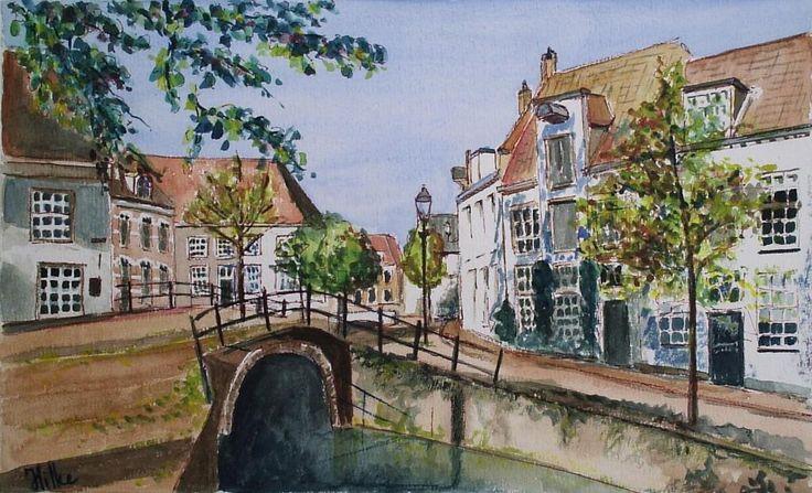 Amersfoort, Het Havik, aquarel, Hilke Lagrand