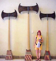 Giants Nephilim and Anakim...THESE AXES BELONG TO THE MINOIC CULTURE AND ARE NOT FROM BAGHDAD..