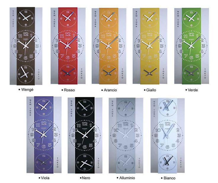 #Orologi da #parete di #design. Con fuso orario. In legno e metallo. Creazione artigianale. www.vuva.it