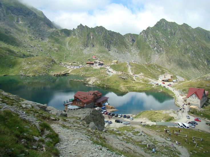 Balea Lac - fun times - snow on the top of the mountain in July