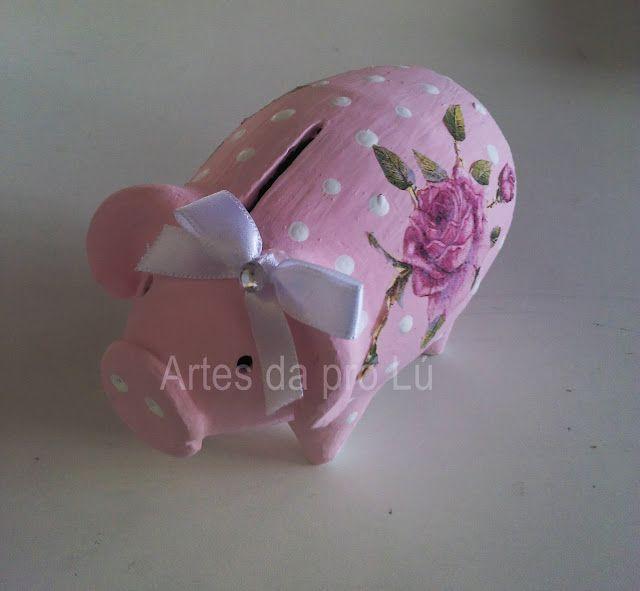 Artes da Pró Lú: Cofrinho porquinho.