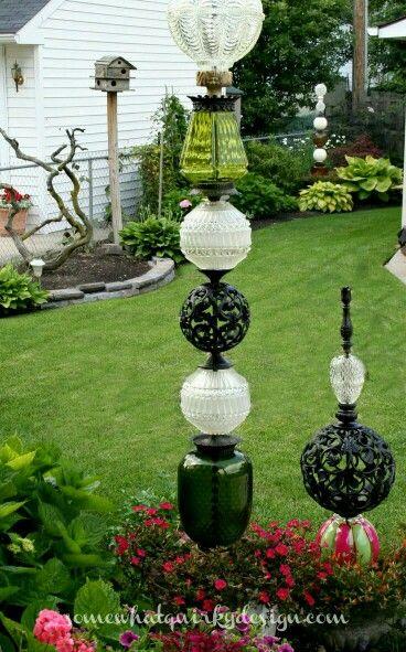 34 best glass garden art images on pinterest garden totems glass garden and garden crafts. Black Bedroom Furniture Sets. Home Design Ideas